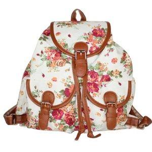 Super Cute Vintage Floral Fabric Mini Backpack